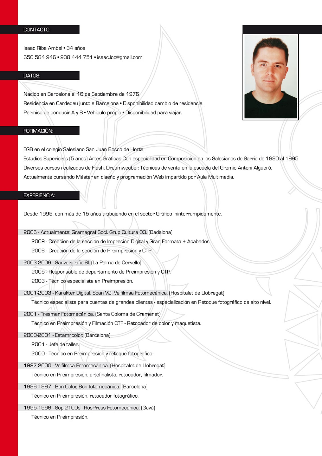 Ejemplos De Curriculum Vitae More Cv Samples