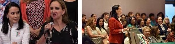 Claudia Ruiz Massieu y Alejandra del Moral Vela