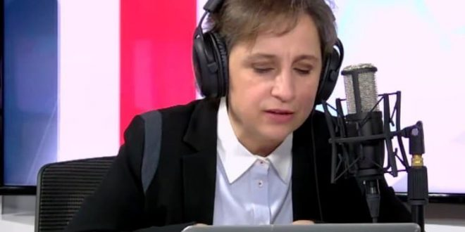 """Carmen Aristegui en Barcelona  """"usemos el miedo"""""""